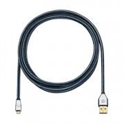 Számítógép kábel USB2.0 dugó A 3m szürke (1166277)