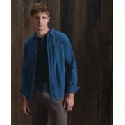 Superdry Indigoblaues Workwear Hemd S blau