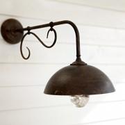 LOBERON Wandlamp voor buiten Lupia / donkerbruin