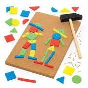 Tap Images - Tap A Picture Kit With 44 Shapes, Board & Accessories. Pin A Shape. Size 22cm.
