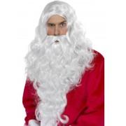 Set Mos Craciun barba lunga cu peruca