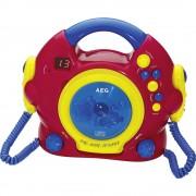 Dječji CD reproduktor AEG, Uklj. funkcija karaoke, Uklj. mikrofon, Crvena, Šarena