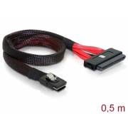 Cablu mini SAS SFF-8087 la SAS SFF-8484 0.5m, Delock 83056