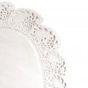 AZ boutique Dentelle ovale blanche en papier 35,7x26,5cm - Lot de 250 - Dentelles papier - AZ boutique