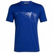 Icebreaker - Tech Lite S/S Crewe Peak In Reach - T-shirt taille XL, bleu