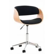 Sedia vintage ufficio PORTMORE in tessuto, nero CLP, nero, altezza seduta