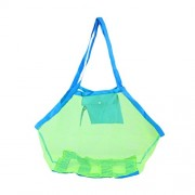 45*30*45cm Beach Mesh Tote Bag Toys Shell Bag Stay Away from Sand for The Beach Pool Boat - Size L(Random Color)