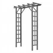 Градинска порта, Пергола [neu.holz]®150 x 50 x 200 cm 112 cm, WPC, Сива