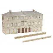 "HO Scale Ohringen Station - Kit (Plastic) -- Weathered 13-3/16 x 4-3/8 x 7"" 33.5 x 11.2 x 18cm"
