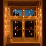 Decorațiune fereastră Crăciun - șirag cu stele