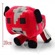 Minecraft Plush Stuffed Toys 20CM Red Mooshroom Cow Plush Toy Dolls Minecraft Game Cartoon Toys Brinquedos s