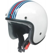 Redbike RB 768 Casque jet Blanc Bleu Orange XS