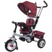 Tricicleta Confort Plus Sun Baby, suporta maxim 25 kg, Melange Rosu