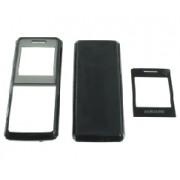 Carcasa telefon Samsung E1110 set 3 piese neagru
