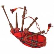 vidaXL Голяма шотландска гайда за деца, червен Royal Stewart тартан