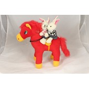 Tickles Romantic Couple Valentine sitting on Horse Stuffed Soft Plush Toy 25 cm