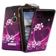 Nokia Lumia 925 Love Heart Flip Калъф + Скрийн Протектор