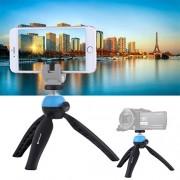 JUNXI Camera Mini trípode de Bolsillo con Cabeza esférica de 360 Grados for teléfonos Inteligentes, cámaras GoPro, DSLR (Azul) de Alta Calidad (Color : Blue)