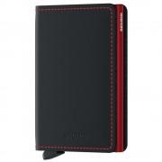 Secrid Porta Carte linea Matte in Pelle Black e Red con RFID