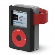 Elago W6 Watch Stand - силиконова винтидж поставка в стила на Apple iPod Classic за Apple Watch (черна)