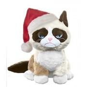 Grumpy Cat with Santa Hat - 8-inch Sitting