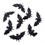 Geen Enge halloween dieren vleermuizen 8 stuks 10 cm