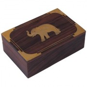Craft Art India Wooden Handmade Decorative / Jewelry / Jewellery Box With Beautiful Carving