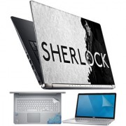 FineArts Sherlock 4 in 1 Laptop Skin Pack with Screen Guard Key Protector and Palmrest Skin