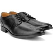 Clarks Kalden Edge Black Leather lace up For Men(Black)