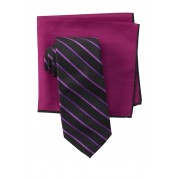 Ted Baker London Alternating Satin Striped Tie Set BLACK