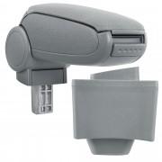 Подлакътник [pro.tec]® AUDI A3 8L с контейнер за съхранение, Текстил/Сив
