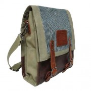 LICENCE 71195 Jumper Canvas Vertical Messenger Bag Beige LBF10760-BE