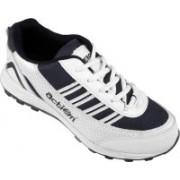 Action White Blue Sport running Shoe -7109 Walking Shoes For Men(White)
