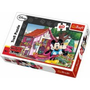 Puzzle clasic pentru copii - Mickey si Minnie Mouse in gradina 60 piese