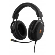 Deltaco GAMING Stereo Gaming Headset, 57mm element, LED-belysning, sva