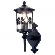 Elstead Lighting 1 lanterne de mur extérieur clair noir