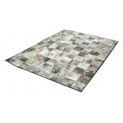 MobilierMoss Piel de vaca patchwork color gris - Junon