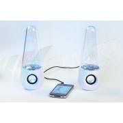 Boxe multimedia cu joc de apa si lumini LED