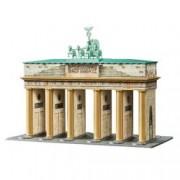 Puzzle 3D Poarta Brandenburg 324 Piese.Fiecare piesa este individual realizata manual