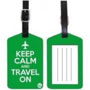 Nutcaseshop KEEP CALM TRAVEL ON -GREEN Luggage Tag(Multicolor)