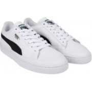 Puma Basket Skate Sneakers For Men(White)