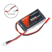 RCRunning 2S 25C 7.4V 500mAh rc car lipo battery With JST Connector Rechargeable Batteries for RC Car Truck