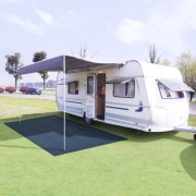 vidaXL Килим за палатка, 250x600 см, син
