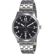 Citizen Quartz Black Round Men Watch BI1050-81F