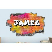 Fab Deco Ltd - Deco Matters £8.99 (from Deco Matters) for one personalised 3D graffiti brick name wall sticker or £16.99 for two