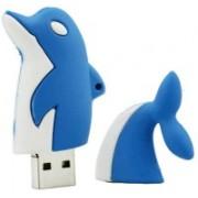 Green Tree Blue whale USB Flash Drive 64 Pen Drive(Blue)