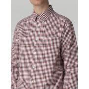 Ben Sherman Main Line Off-White Long Sleeve House Gingham Shirt XL Off White