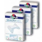 Pietrasanta Pharma Spa Master Aid Quadra Med - Cerotti In Morbido Tessuto Non Tessuto Confezione Da 10 Pezzi 86x39 Mm (Formato Super)