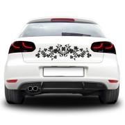 Sticker auto - Flori simetrice
