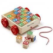 Детско дървено ремарке с кубчета - ABC, 11169 Melissa and Doug, 000772111690